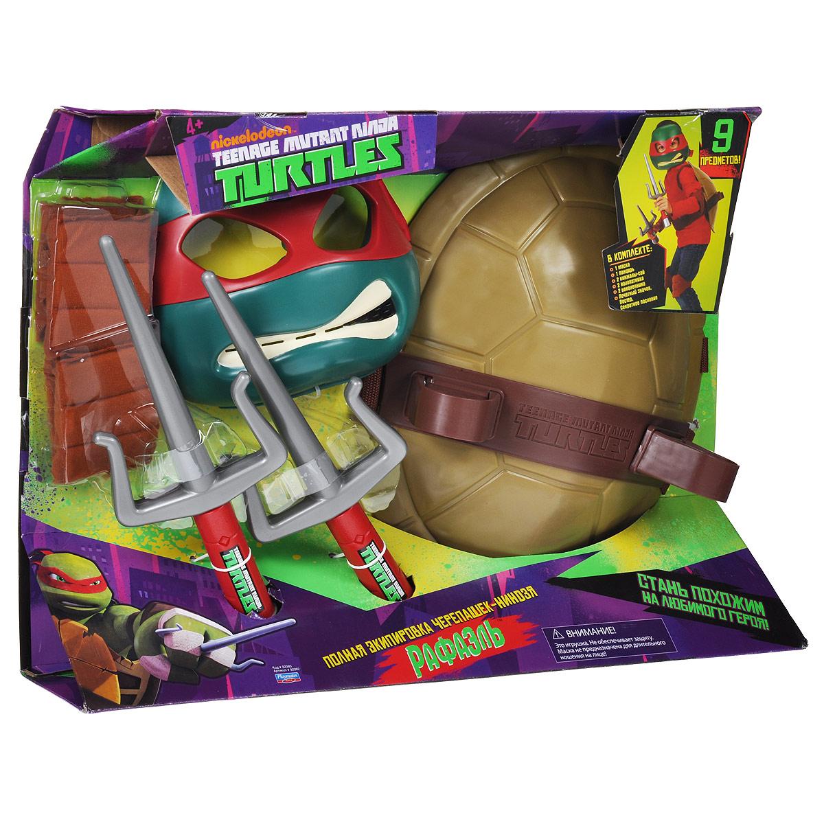 Игровой набор Turtles Боевое снаряжение Черепашки-Ниндзя: Рафаэль, 11 предметов игровой набор turtles боевое снаряжение черепашки ниндзя микеланджело 4 предмета