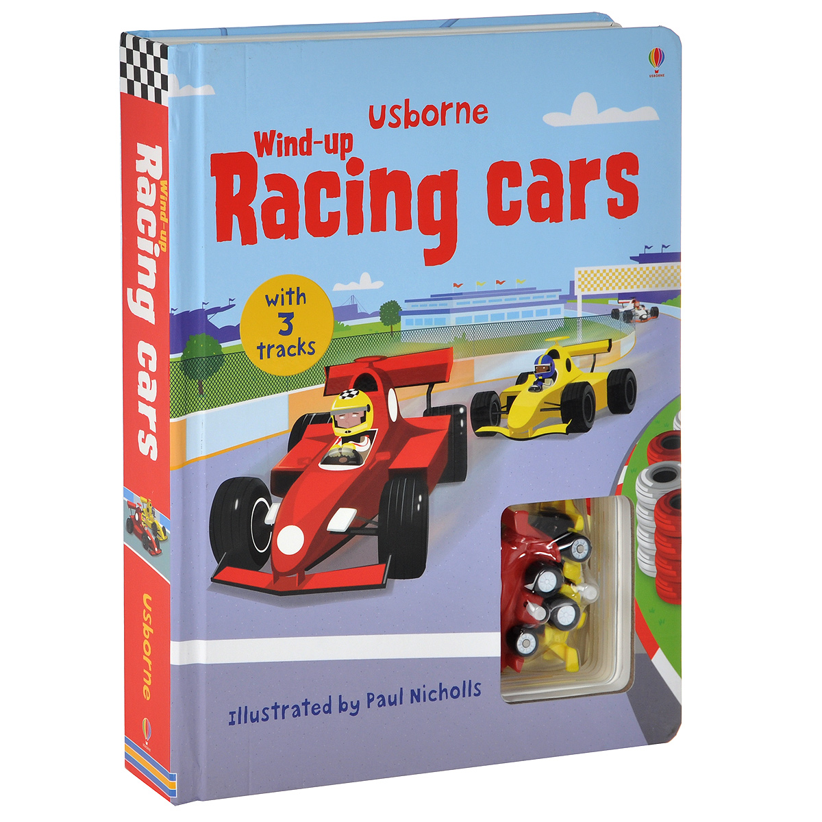 Wind-up Racing Cars. Книжка-игрушка (+ подарок) wooden multifunction drawing board three in one on the table fine arts black and white brand children drawing toys