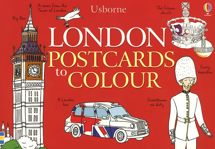 London Postcards to Colour 25 postcards to colour on holiday