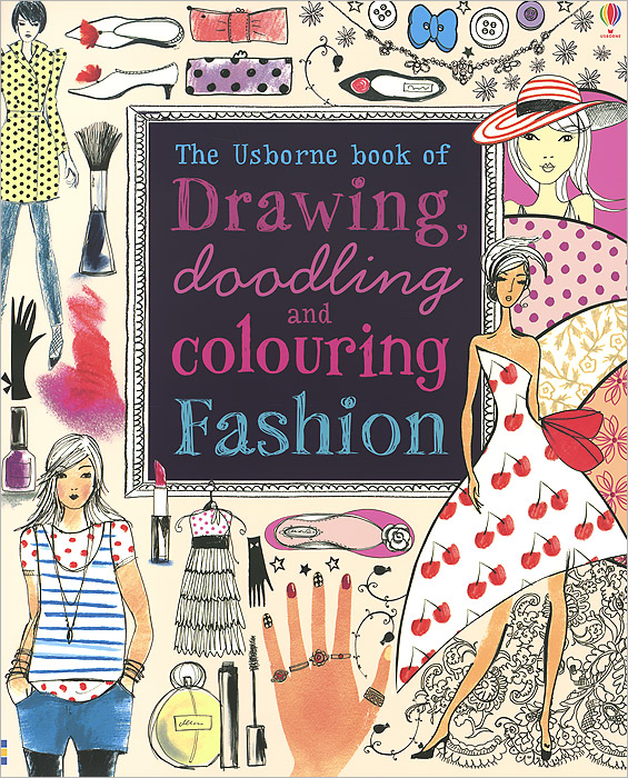 Drawing, Doodling and Colouring: Fashion pocket doodling and colouring book blue book