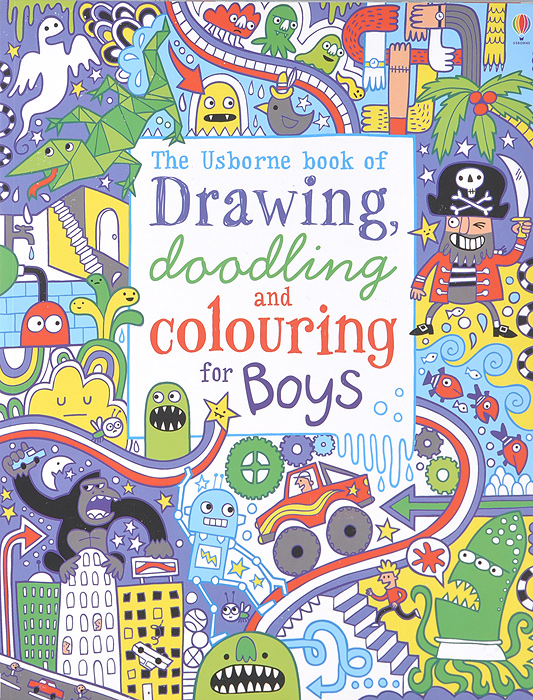 Drawing, Doodling and Colouring for Boys pocket doodling and colouring book blue book