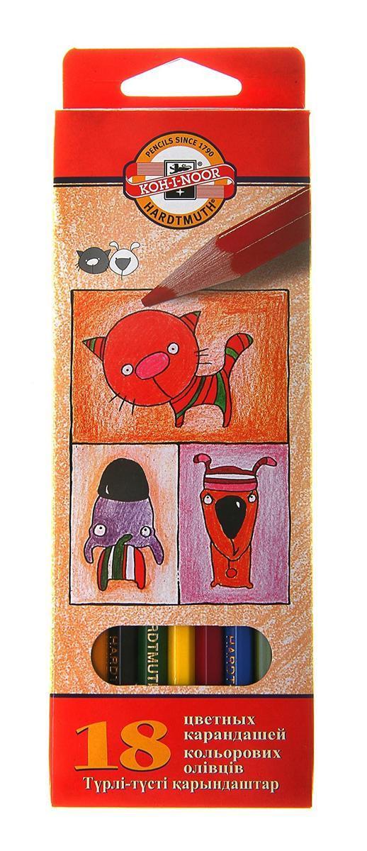 Цветные карандаши Собаки и Кошки, 18 цветов3593/18 5 KSЦветные карандаши Собаки и Кошки непременно, понравятся вашему юному художнику. Набор включает в себя 18 ярких насыщенных цветных карандашей, которые идеально подходят для малышей. Шестигранный корпус изготовлен из натуральной древесины. Карандаши имеют прочный неломающийся грифель, не требующий сильного нажатия и легко затачиваются. Порадуйте своего ребенка таким восхитительным подарком!