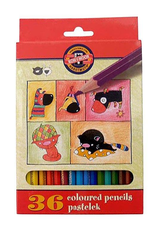 Цветные карандаши Собаки и Кошки, 36 цветовPAX125-DЦветные карандаши Собаки и Кошки непременно, понравятся вашему юному художнику. Набор включает в себя 36 ярких насыщенных цветных карандашей, которые идеально подходят для малышей. Шестигранный корпус изготовлен из натуральной древесины. Карандаши имеют прочный неломающийся грифель, не требующий сильного нажатия и легко затачиваются. Порадуйте своего ребенка таким восхитительным подарком!