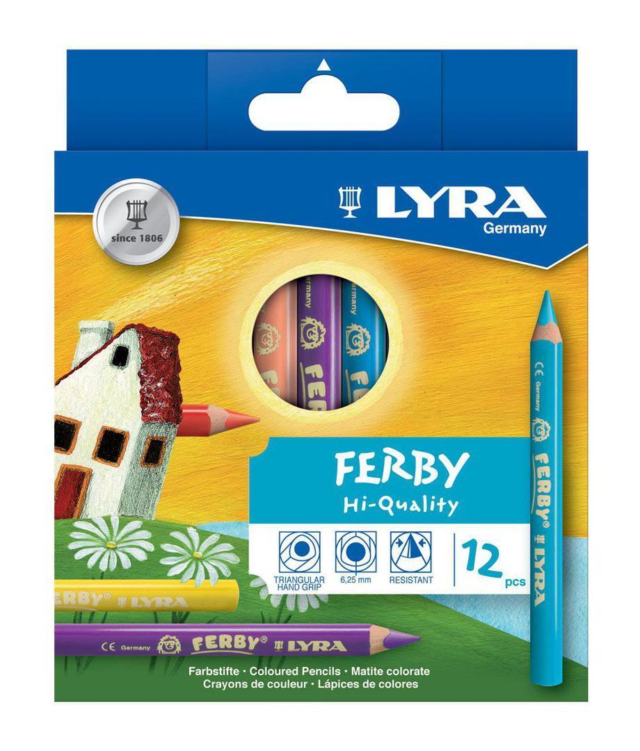 Цветные карандаши Lyra Ferby, 12 цветовL3621120Цветные карандаши Lyra Ferby непременно, понравятся вашему юному художнику. Набор включает в себя 12 ярких насыщенных цветных карандаша. Имеют утолщенную эргономичную округло-треугольную форму, которая подходит для раннего развития ребенка. Карандаши изготовлены из натурального сертифицированного дерева, экологически чистые. Имеют ударопрочный неломающийся высокопигментный грифель, не требующий сильного нажатия. Легко затачиваются. Порадуйте своего ребенка таким восхитительным подарком! В комплекте: 12 карандашей.