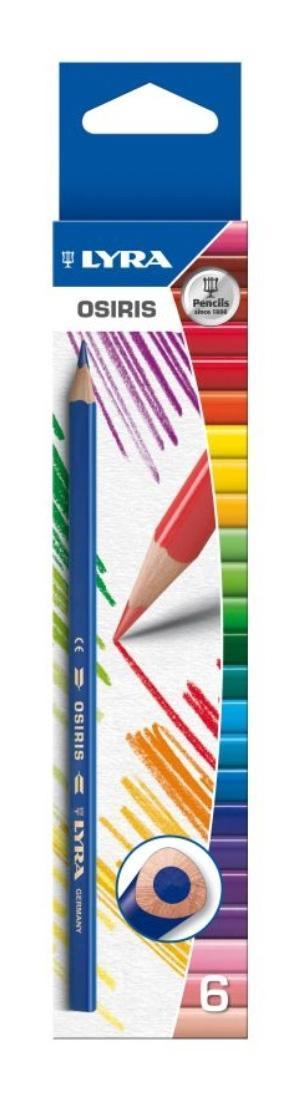 Цветные карандаши Lira Osiris, 6 цветовL2521060Цветные карандаши Lyra Osiris непременно понравятся вашему юному художнику. Набор включает в себя 6 ярких насыщенных цветных карандаша (желтый, красный, синий, зеленый коричневый, черный). Имеют эргономичную округло-треугольную форму, которая подходит для раннего развития ребенка. Карандаши изготовлены из натурального сертифицированного дерева, экологически чистые. Имеют ударопрочный неломающийся высоко пигментный грифель, не требующий сильного нажатия. Легко затачиваются. Порадуйте своего ребенка таким восхитительным подарком! В комплекте: 6 карандашей.