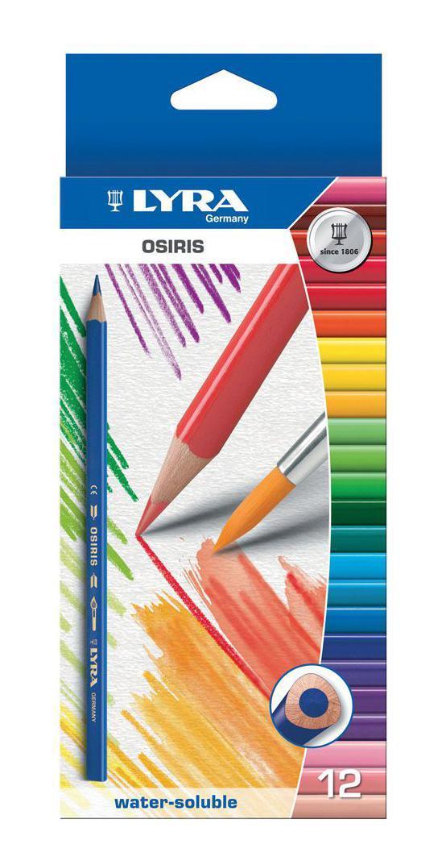 Цветные карандаши Lyra Osiris Aquarell, акварельные, 12 цветов карандаши fila lyra graduate гексагональные цветные карандаши 12шт картонная упаковка