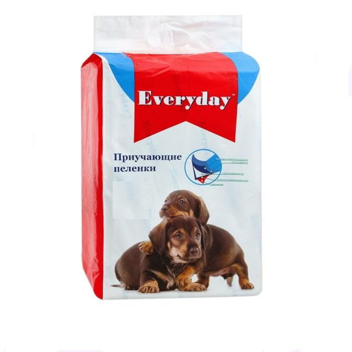 Пеленки приучающие для животных Everyday, гелевые, 60 см х 60 см, 10 шт