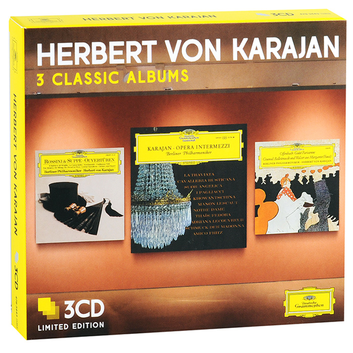 Berliner Philharmoniker,Герберт Караян Herbert Von Karajan. 3 Classic Albums. Limiten Edition (3 CD) герберт караян berliner philharmoniker herbert von karajan berliner philharmoniker famous ballet music 2 cd