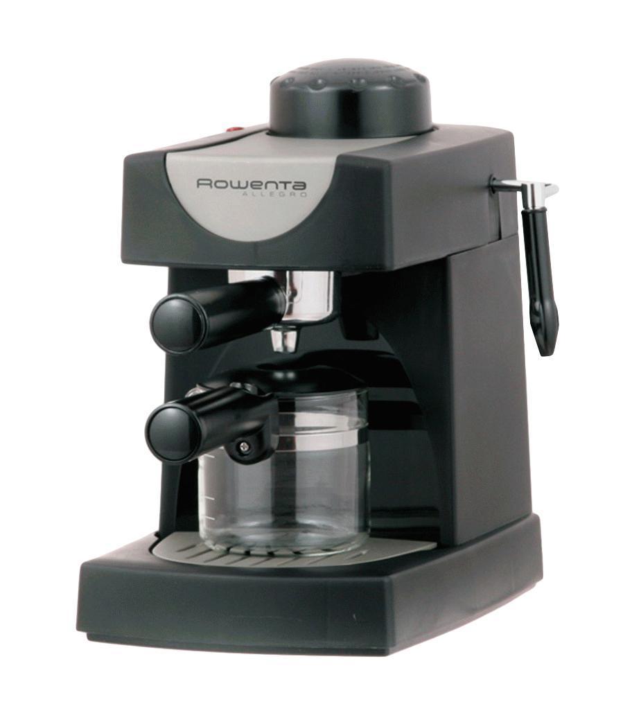 Rowenta ES0600 Allegro кофеваркаES0600 AllegroRowenta ES0600 Allegro - компактная кофеварка эспрессо на 4 чашечки кофе. Имеет мощность 750 Ватт и давление 4 бара. Стеклянный кувшин рассчитан на 4 чашки кофе. Кофеварка оснащена фильтродержателем с механизмом высыпки отходов, а также съемным лотком для сбора капель.Как выбрать кофеварку. Статья OZON Гид