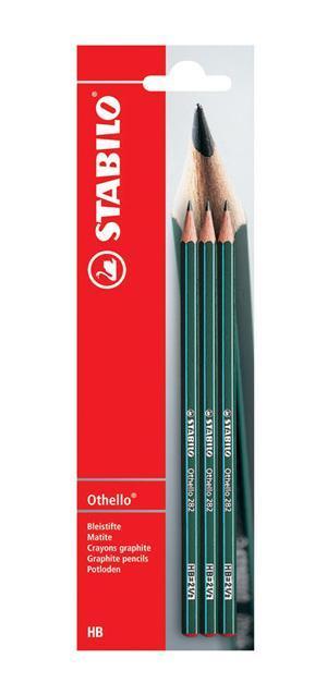 Набор чернографитных карандашей Stabilo Othello, твердость: НВ, 3 шт othello