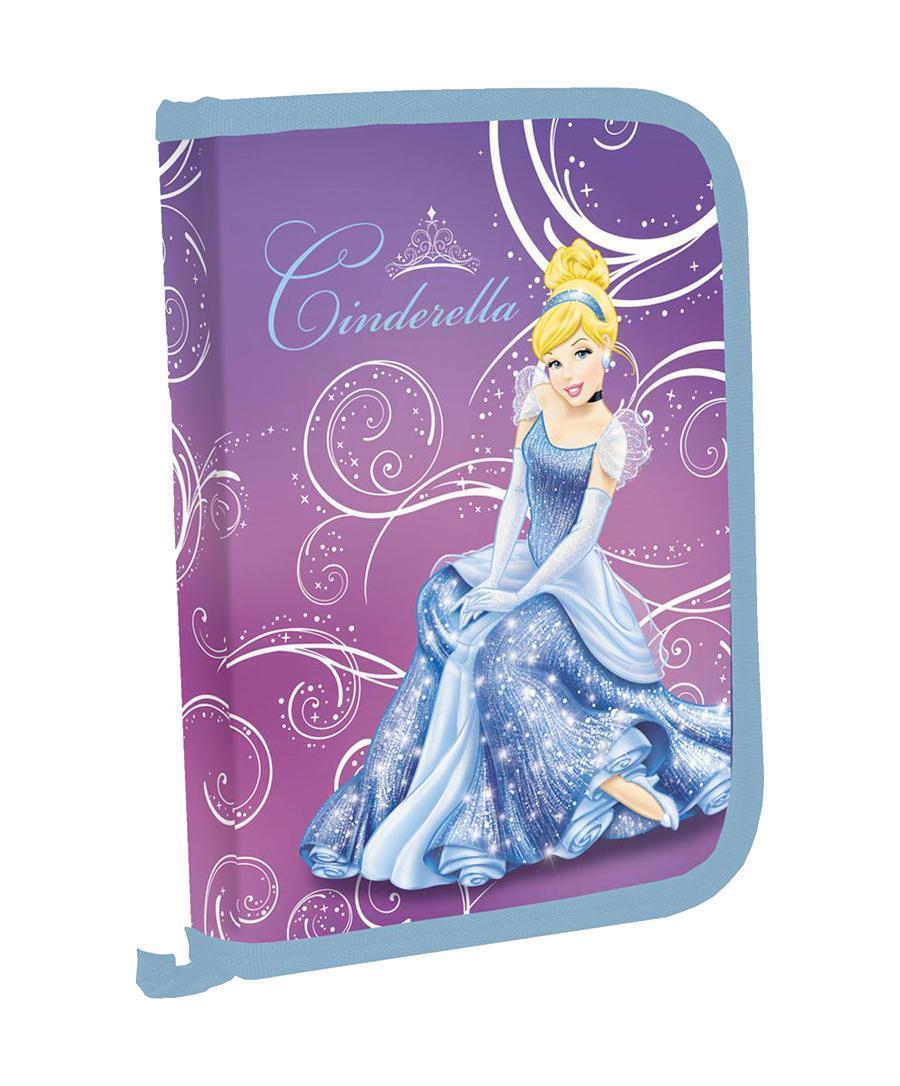 Пенал жесткий с креплениями для канцелярских принадлежностей, размер20,5х14х3,5см,  Princess