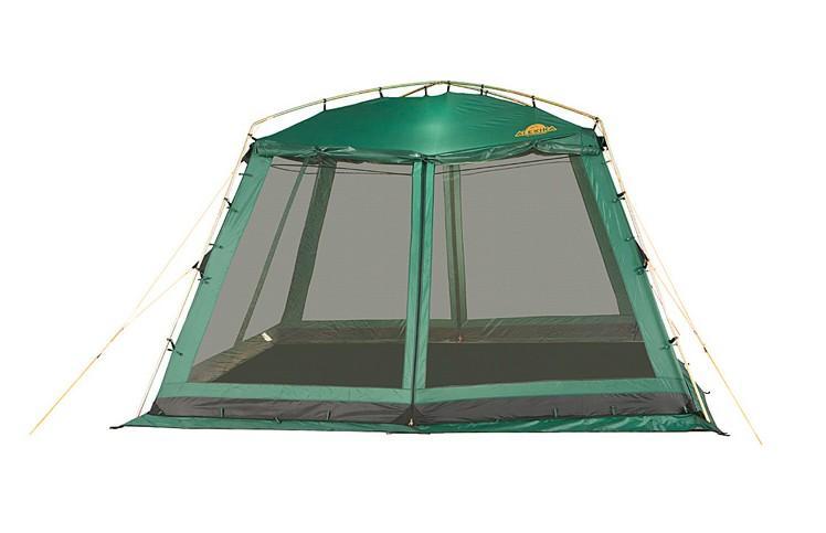 Палатка Alexika China House Green9159.0301Alexika CHINA HOUSE представляет собой большую модифицированную палатку на каркасной основе, без дна. Если вам в походе необходимо где-то разместить столовую или кухню, данная модель - идеальный вариант. Размер палатки 3,5 м x 3,5 м, высота - 1,95 м, что позволяет стоять взрослому человеку в полный рост не сгибаясь. Палатка оснащена по периметру противомоскитной сеткой, благодаря чему вы будете надежно укрыты от надоедливых насекомых. В летнюю пору CHINA HOUSE палатка отлично вентилируется. Швы хорошо загерметизированы термоусадочной лентой, что обеспечивает защиту от влаги. Поэтому даже в случае дождя ваша кухня совершенно не пострадает. Материал, из которого изготовлена палатка, пропитан специальным составом, предотвращающим распространение огня. Палатка прочно крепиться к металлическим стойкам, расположенным по периметру и имеет два входа. Для пологов дверей предусмотрены дополнительные стойки из стали. Для установки или разборки палатки CHINA HOUSE вам понадобится минимум времени. Конструкция каркаса не предусматривает изгибаемых элементов, которые со временем имеют свойство разрушаться. А это значит, ваше приобретение будет радовать вас долгие годы. Вес: 15,6 кг. Количество мест. Сезонность: весна-осень. Размер: 350 x 350 x 195 см. Размер в чехле: 92 x 22 см. Материал тента: Polyester 190T PU 4000 mm. Материал дна: Polyethylene 4000 mm. Внутренняя палатка: нет. Материал дуг: Steel 16мм. Ветроустойчивость: низкая. Количество входов: 2. Цвет: зеленый. Область применения: кемпинг.Технологии:Пропитка, задерживающая распространение огня. Швы герметизированы термоусадочной лентой. Узлы палатки, испытывающие высокие нагрузки, усилены более прочной тканью. Ветрозащитный полог (юбка) по периметру палатки прошит прочной стропой. Молнии на внешнем тенте фиксируются алюминиевым крючком. Дополнительные стальные стойки для пологов дверей. Два входа в палатку. Цвет: зеленый. Материал: Polyester 190T PU, polyethilene.Что взять с собой 