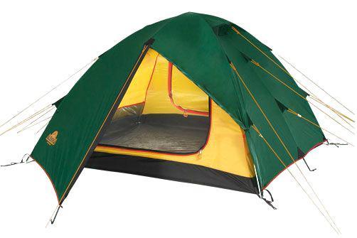 Палатка Alexika Rondo 39123.3101RONDO 3 - трекинговая трехместная палатка с двумя вместительными тамбурами. Если вы любите долгие путешествия, то данная модель определенно вам подходит. Большие размеры палатки позволяют, как весьма удобно разместиться отдыхающим в ней людям (3 места), так и поставить в тамбура несколько велосипедов. Если необходимость в размещении велосипедов отсутствует, то свободное пространство могут успешно занять не менее полезные вещи. В одном из тамбуров, к примеру, можно разместить небольшой столик и стульчики. Палатка RONDO 3 имеет специальную конструкцию с двумя входами и грамотно продуманную вентиляцию, что позволит вам даже в жаркую погоду наслаждаться комфортом временного жилища. Противомоскитная сетка, кольцо для фонаря, а также вместительные карманы внутри обеспечивают дополнительные удобства, которых порой так не хватает на природе. При изготовлении RONDO 3 использована пропитка, которая задерживает распространение огня. Швы данной модели герметизированы специальной термоусадочной лентой. Конструкция палатки разработана таким образом, что даже при своей небольшой массе она может выдержать значительные нагрузки. Вес: 4,5 кг. Количество мест: 3. Сезонность: весна-осень. Размер: 390 x 215 x 115 см. Размер в чехле: 18 x 52 см. Материал тента: Polyester 190T PU 4000 mm. Материал дна: Polyester 150D Oxford PU 6000 mm. Внутренняя палатка: есть. Материал дуг: Alu 8.5 Alu 9.5. Ветроустойчивость: средняя. Количество входов: 2. Цвет: зеленый. Область применения: трекинг. Технологии:Пропитка, задерживающая распространение огня. Швы герметизированы термоусадочной лентой. Узлы палатки, испытывающие высокие нагрузки, усилены более прочной тканью. Край тента обшит прочной стропой. Молнии на внешнем тенте фиксируются алюминиевым крючком. Внутренняя палатка оснащена противомоскитной сеткой, шестью карманами, кольцом для фонаря и полочкой для мелких предметов. Эффективная система вентиляции состоит из двух вентиляционных окон с ветровым клапаном, распо