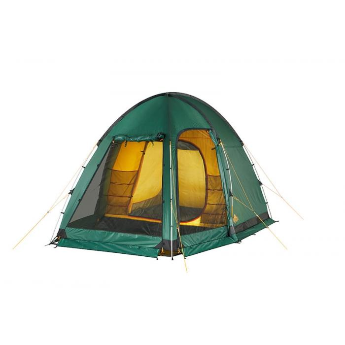 Палатка Alexika Minnesota Alu 3 Luxe 9153.3101, цвет: зеленый9153.3101Эта палатка - идеальный выбор для семьи, состоящей из 3-х человек. С ней вам не придется размышлять, где расположиться самим, а куда пристроить свои вещи. Палатка оснащена просторным тамбуром, который может подойти для обустройства походной кухни. В стенке тамбура имеется прозрачная вставка. В комплекте предусмотрено дно для тамбурного отделения. В палатке MINNESOTA 3 LUXE Alu имеется три входа, каждый из них защищен противомоскитной сеткой. Поэтому спокойные ночи без надоедливого жужжания насекомых вам обеспечены. Для защиты от ветра по периметру палатки располагается «юбка». В местах, на которые приходятся серьезные нагрузки, используется более прочная ткань. MINNESOTA 3 LUXE Alu выделяется среди аналогичных палаток тщательно продуманной системой вентиляции. Ее эффективность достигается за счет наличия вентиляционного окна (располагается в верхней части купола) с ветровым клапаном и торцевого окна, дополненного внешней шторкой на молнии. Для изготовления тента используется специальный материал, пропитанный составом, препятствующим распространению огня. Для изготовления каркасных стоек используется алюминий. Вес: 10,2 кг. Количество мест: 3.Сезонность: весна-осень. Размер: 310 x 240 x 195 см. Размер в чехле: 62 x 25 см. Материал тента: Polyester 185T RipStop PU 4000 mm. Материал дна: Polyester 150D Oxford PU 6000 mm.Внутренняя палатка: есть. Материал дуг: Alu 13 mm. Ветроустойчивость: средняя. Количество входов: 3. Цвет: зеленый. Область применения: кемпинг. Технологии:Пропитка, задерживающая распространение огня. Швы герметизированы термоусадочной лентой. Узлы палатки, испытывающие высокие нагрузки, усилены более прочной тканью. Ветрозащитный полог (юбка) по периметру палатки прошит прочной стропой. Молнии на внешнем тенте фиксируются алюминиевым крючком. Внутренняя палатка оснащена противомоскитной сеткой, карманами, кольцом для фонаря. Эффективная система вентиляции состоит из одного вентиляци