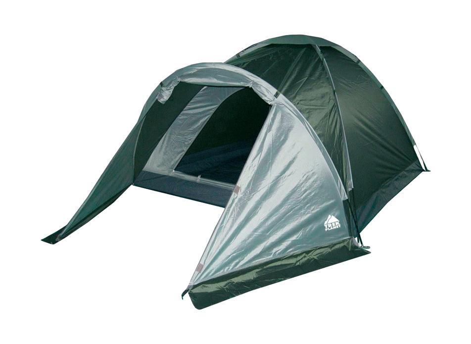Палатка трехместная Trek Planet Toronto 3, цвет: темно-зеленый, оливковый палатка трехместная с тамбуром двухслойная boyscout 61080