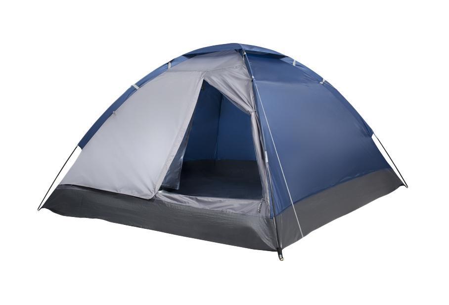 Палатка трехместная Trek Planet Lite Dome 3, цвет: синий, серый70122Однослойная трехместная палаткаTrek Planet Lite Dome 3, самая легкая и быстрая в установке. Необходимое количество колышков входит в комплект.Особенности модели:Простая и быстрая установка,Тент палатки из полиэстера, с пропиткой PU водостойкостью 1000 мм, надежно защитит от дождя и ветра,Все швы проклеены,Каркас выполнен из прочного стекловолокна,Дно изготовлено из прочного армированного полиэтилена, Москитная сетка на входе в палатку в полный размер двери,Вентиляционное окно сверху палатки не дает скапливаться конденсату на стенках палатки,Внутренние карманы для мелочей,Возможность подвески фонаря в палатке. Для удобства транспортировки и хранения предусмотрен чехол с двумя ручками, закрывающийся на застежку-молнию. Размер в сложенном виде: 12 см х 12 см х 63 см.
