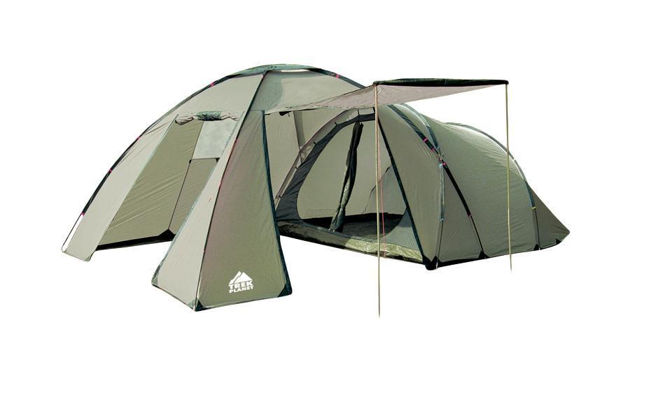 Палатка четырехместная TREK PLANET Montana 4, цвет: светлый хаки, хаки палатка четырехместная trek planet hudson 4 цвет серый оранжевый