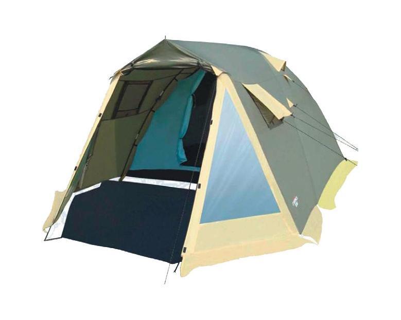 Палатка Campack Tent Camp Voyager 4 Green37629Кемпинговая палатка Camp Voyager – это лучший выбор для выезда на природубольшой компанией. Размеры палатки позволяют спокойно передвигаться внутрив полный рост. Несмотря на большие размеры палатки, вы легко установите еепрактически в любой местности. В палатке имеется два противоположных входа,что обеспечивает отличную вентиляцию. Этому способствуют и дополнительныеокна на боковых поверхностях тента, которые также защищены москитнойсеткой и внешними шторами. На главном входе расположены два прозрачныхокна, пропускающих свет.High Quality каркас изготовлен из фибергласса и стальных конструкций, которыене содержат изгибаемых элементов. За счет этого палатка приобрела еще большуюнадежность. и устойчивость.Проклеенные швы гарантируют герметичность и надежность в любой ситуации. Характеристики: Размер палатки в разложенном виде (ДхШхВ): 420 см х 250 см х 165 см. Наружный тент:190T P. Taffeta. Внутренняя палатка: 170T P. Taffeta + MESH. Дно: Tarpauling. Каркас:дуги из фибергласа диаметром 9,5 мм. Вес:8500 г. Размер в сложенном виде: 75 см х 25 см х 25 см.Что взять с собой в поход?. Статья OZON Гид