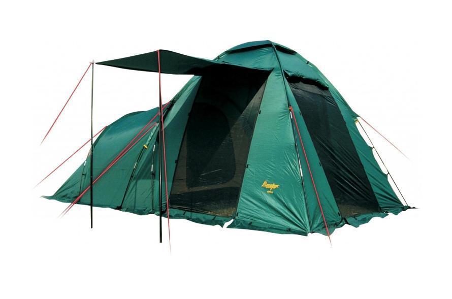Палатка CANADIAN CAMPER HYPPO 4 (цвет woodland)30400013Кемпинговая палатка Canadian Camper Hyppo 4 – одна из самых популярных моделей, которую выбирают современные путешественники. Эта вместительная и просторная палатка легко устанавливается, она отлично подходит для жаркой и прохладной погоды. Палатку известного канадского бренда отличает особенная продуманная конструкция, высокое качество материалов и исполнения.Особенности палатки для кемпинга Canadian Camper Hyppo 4:Палатка предназначена для кемпинговых лагерей, в ней легко могут отдыхать четыре человека; Вес палатки составляет 8,7 кг, это совсем немного для кемпинговой палатки; У палатки Канадиан Кэмпер Хиппо 4 есть одна спальня с низким потолком, а также высокий тамбур, оборудованный тремя входами; Все входы и окна защищены антимоскитными сетками, защищающими от насекомых; Хорошую вентиляцию обеспечивают верхнее вентиляционное окно и дополнительное окно в спальном отделении. Двери можно оставлять открытыми, оставив только сетки, чтобы сохранить прохладу в жаркую погоду; Дверь тамбура-прихожей может быть использована как козырек над входом; «Юбка» по периметру палатки надежно защищает от насекомых, ветра и влаги; Водостойкий материал защищает от дождя и ночной росы, используется огнеупорная пропитка и защита от ультрафиолета; Палатка выпускается в двух цветовых решениях - Royal и Woodland; Тент можно использовать самостоятельно без спального отделения.Производитель палатки - канадская компания Canadian Camper, которая была создана в 1992 году, с тех пор она является одним из лидеров на рынке туристических товаров. Путешественники во всем мире сумели оценить качество и надежность палаток, шатров, мебели для кемпинга, а также многих других вещей для походов и отдыха на природе.Палатка Canadian Camper Hyppo 4 прекрасно подходит тем, кто путешествует на машине и предпочитает длительные стоянки. Она довольно много весит, поэтому в пеших походах ее используют редко. Эту модель легко устанавливать и собирать, она усто