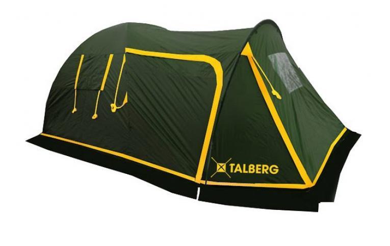 Палатка Talberg Blander 4УТ-000047011Комфортная кемпинговая палатка Talberg Blander 4 - идеальная палатка для велотуристов с большим спальным отделением, большим удобным тамбуром для велосипедов и/или багажа и юбкой от ветра и насекомых. Внутренняя палатка выполнена из дышащего полиэстера, швы наружного тента проклеены. Тамбур палатки имеет съемный пол из тарпаулина.Вы несомненно оцените скорость, с которойможет быть установлена эта палатка. Идеально подходит для четырех туристов.Палатка упакована в сумку-чехол с ручками. Характеристики:Количество мест: 4. Размер палатки: 460 см х 220 см х 190 см. Спальная комната: 240 см х 210 см. Количество входов: 2. Дуги: HQ FiberGlass 11 мм + сталь 16 мм. Материал внешнего тента: полиэстер 190T/75D 4000 mm. Материал внутреннего тента: полиэстер. Материал дна: армированный полиэтилен. Размер палатки в собранном виде: 70 см х 21 см х 21 см. Вес: 10 кг. Изготовитель: Китай. Что взять с собой в поход?. Статья OZON Гид