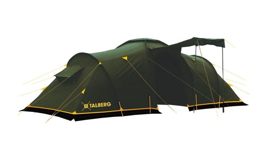 Палатка Talberg Base 6УТ-000046672Кемпинговая палатка Talberg Base 6 с двумя спальными отделениями, большим удобным тамбуром и ветрозащитной юбкой предназначена для пешего туризма и кемпинга. Высота и размеры тамбура позволяют использовать его как кухню. Внутренняя палатка выполнена из дышащего полиэстера, на входах в комнаты - москитные сетки, швы наружного тента проклеены, на входе в тамбур москитной сетки нет. В тамбуре - съемное дно из армированного полиэтилена. Цвет спальных комнат: дно - черное, ткань - желтая, москитная сетка - серая. Вы несомненно оцените скорость, с которой может быть установлена эта палатка. Идеально подходит для шести туристов.Палатка упакована в сумку-чехол с ручками. Характеристики:Количество мест: 6. Размер палатки: 580 см х 220 см х 200 см. Спальная комната: 210 см х 180 см. Количество входов: 2. Дуги: HQ FiberGlass 11 мм + сталь 16 мм. Материал внешнего тента: полиэстер 190T/75D 4000 mm. Водонепроницаемость: 4000 mm. Материал внутреннего тента: полиэстер. Материал дна: армированный полиэтилен. Размер палатки в собранном виде: 70 см х 22 см х 22 см. Вес: 13 кг. Изготовитель: Китай.