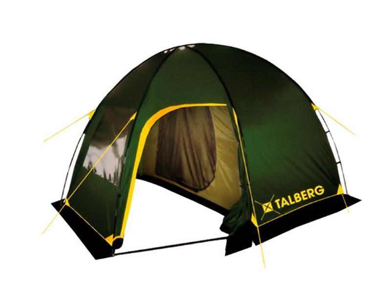 Палатка Talberg Bigless 4УТ-000046912Семейная кемпинговая палатка Talberg Bigless 4 предназначена для пешего туризма и кемпинга. Внутренняя палатка выполнена из полиэстера, швы наружного тента проклеены. 2 палатки (внешняя и внутренняя).Количество входов внешней палатки: 2 с москитной сеткой 1 навес без сетки.Количество входов внутренней палатки: 1 с москитной сеткой.Внешняя палатка имеет 1 вентиляционный клапан с москитной сеткой.Внутренняя палатка для вентиляции имеет вставку из москитной сетки в верхней части задней стенки. Съемный пол для тамбура (терпаулинг). Набор колышков и растяжек.Вы несомненно оцените скорость, с которойможет быть установлена эта палатка. Идеально подходит для четырех туристов. Палатка упакована в сумку-чехол с ручками. Характеристики:Количество мест: 4. Размер палатки: 360 см х 250 см х 200 см. Спальная комната: 220 см х 250 см. Материал внешнего тента: полиэстер 190T/75D 4000 mm. Материал внутреннего тента: дышащий полиэстер. Материал дна, терпаулинга и юбки от ветра и насекомых: армированный полиэтилен. Дуги из фибергласа: 11 мм, 3 шт. Размер палатки в собранном виде: 68 см х 17 см х 17 см. Вес: 8,7 кг. Изготовитель: Китай.