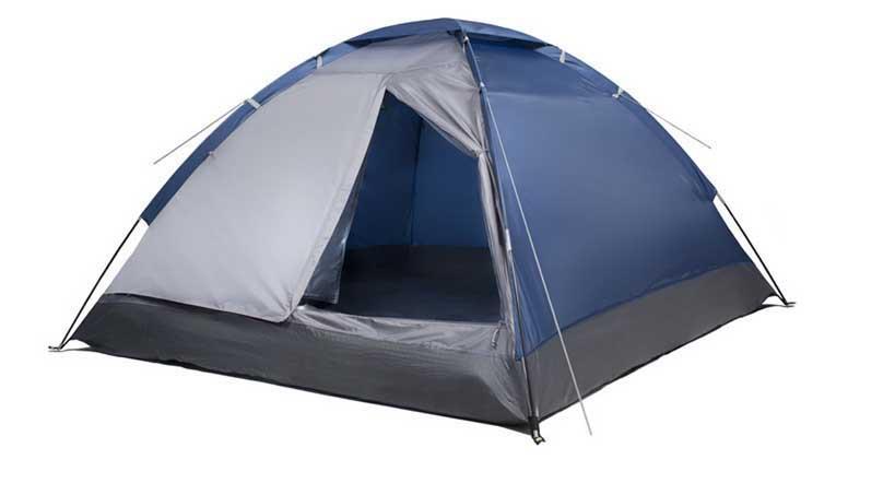 Палатка четырехместная Trek Planet Lite Dome 4, цвет: синий, серый