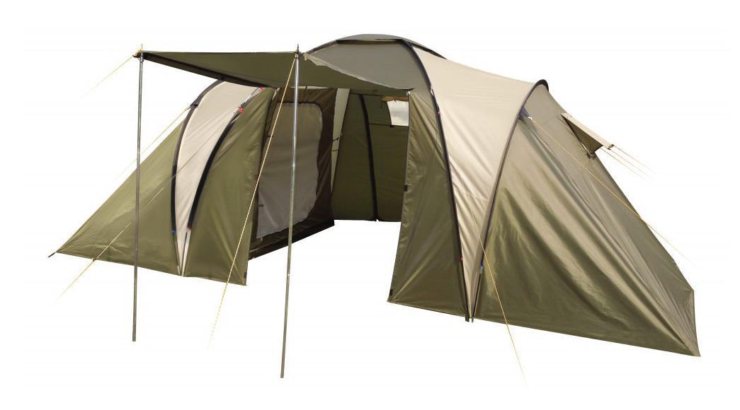 Палатка четырехместная TREK PLANET Idaho Twin 4, цвет: светлый хаки, хаки.70223Четырехместная двухслойная семейная палатка TREK PLANET Idaho Twin 4 с двумя спальными отделениями, отличной вентиляцией и большим внутренним помещением между спальными отделениями - отличный выбор для семейного кемпинга и отдыха на природе.Особенности модели:- Размер внутренней палатки: 220 см х 140 см х 150 см;- Тент палатки из полиэстера с пропиткой PU надежно защищает от дождя и ветра;- Все швы проклеены;- Большое и высокое внутреннее помещение между спальными отделениями палатки, где свободно размещается кемпинговый стол и стулья на 4 человек;- Обзорное окно со шторкой во внутреннем помещении;- Эффективная потолочная система вентиляции в тамбуре;- Большой выносной козырек на металлических стойках;- Дно из прочного водонепроницаемого армированного полиэтилена позволяет устанавливать палатку на жесткой траве, песчаной поверхности, глине и т.д.;- Дуги из прочного стекловолокна;- Внутренние палатки из дышащего полиэстера, обеспечивают вентиляцию помещения и позволяют конденсату испаряться, не проникая внутрь палатки;- Трехпозиционные вентиляционные окна в спальных отделениях (закрыто, частично открыто, полностью открыто);- Удобная D-образная дверь на входе во внутреннюю палатку;- Москитная сетка на каждом входе во внутреннюю палатку в полный размер двери;- Внутренние карманы для мелочей в каждом отделении;- Возможность подвески фонаря в палатке.Для удобства транспортировки и хранения предусмотрен чехол из прочного полиэстера OXFORD, с двумя ручками и закрывающийся на застежку-молнию.