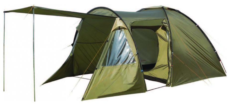 Палатка пятиместная TREK PLANET Vegas 5, цвет: светлый хаки, хаки палатка шестиместная trek planet florida tripl 6 цвет хаки