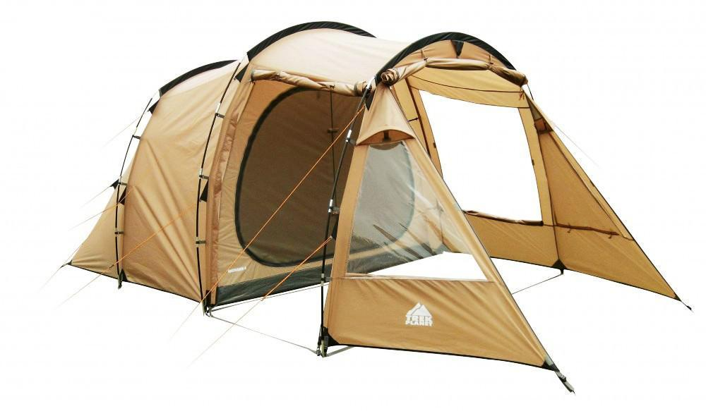 Палатка четырехместная TREK PLANET Michigan 4, цвет: песочная палатка четырехместная trek planet hudson 4 цвет серый оранжевый