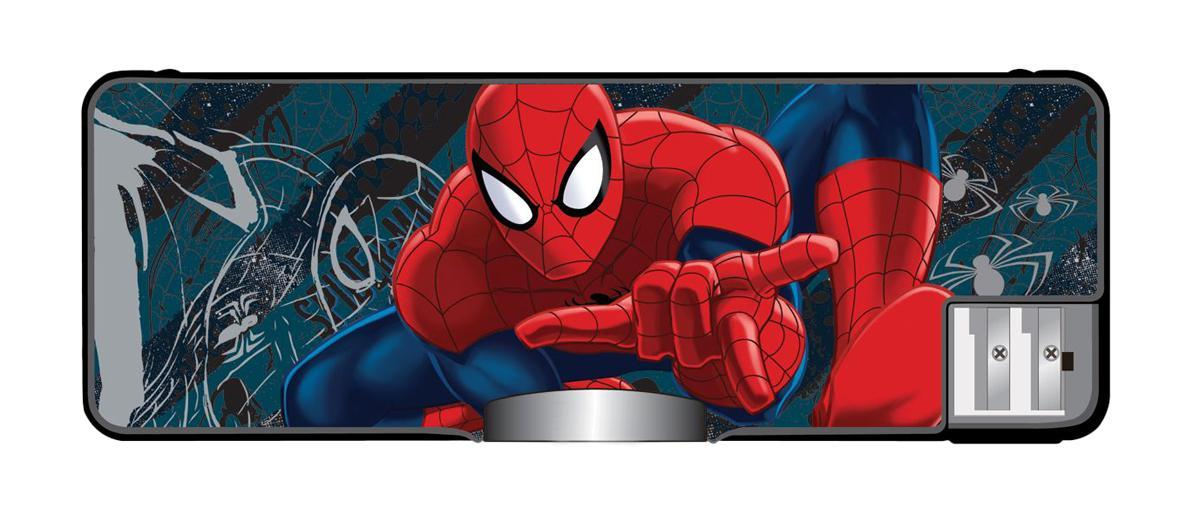 Пенал жесткий с точилками (пластик, PVC), размер 23 х 8 х 2,5 см Spider-man Classic
