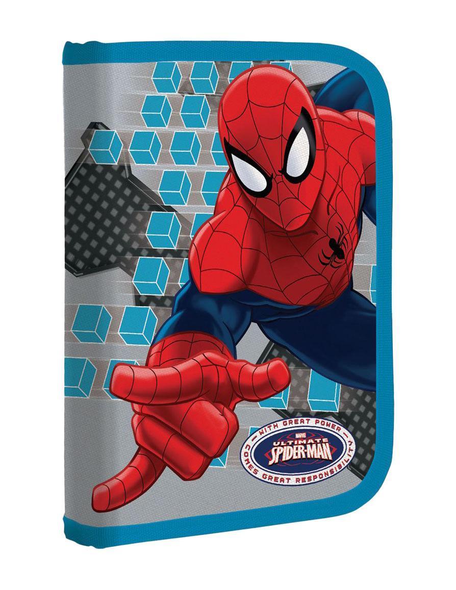 Пенал жесткий, с креплениями для канцелярских принадлежностей Размер 21х14х4 см Spider-man Classic