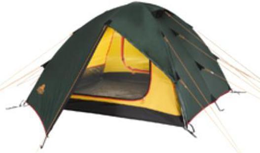 Палатка Alexika Rondo 29123.2101Трекинговая палатка RONDO 2 - удобная классическая модель стандартной формы, которую вы сможете установить за максимально короткий промежуток времени. Данная палатка устойчива и надежна, ее конструкция поддерживается при помощи легких, но достаточно прочных алюминиевых дуг, предотвращающих возможное провисание тента. Непромокаемое внешнее покрытие палатки производится из тентованного полотна Polyester, а дно выполняется из очень плотной прорезиненной ткани. Палатка RONDO 2 предназначена для комфортного отдыха двух туристов, хотя в ее внутреннем пространстве при необходимости без труда могут поместиться и три человека. Главное преимущество палатки RONDO 2 - наличие двух вместительных тамбуров, где туристы могут оставить свои рюкзаки. Данная модель также характеризуется двумя раздельными входами, чтобы туристы, покидающие палатку среди ночи, не потревожили сон друг друга. Еще одна особенность модели RONDO 2 - наличие удобной внутренней палатки из полупрозрачного желтого полотна, которая удобно и надежно закрывается на змейку-молнию. Откидывающийся полог из тента зеленого цвета после закрытия позволяет сделать внутреннее пространство спальной палатки герметичным, защищая спящих туристов во время ночных понижений температур. Вес:- 3,9 кг. .Количество мест: 2. Сезонность: весна-осень. Размер: 340 x 210 x 100 см. Размер в чехле: 16 x 52 см. Материал тента: Polyester 190T PU 4000 mm. Материал дна: Polyester 150D Oxford PU 6000 mm. Внутренняя палатка: есть. Материал дуг: Alu 8.5 Alu 9.5. Ветроустойчивость: средняя. Количество входов: 2. Цвет: зеленый. Область применения: трекинг. Технологии:Пропитка, задерживающая распространение огня. Швы герметизированы термоусадочной лентой. Узлы палатки, испытывающие высокие нагрузки, усилены более прочной тканью. Край тента обшит прочной стропой. Молнии на внешнем тенте фиксируются алюминиевым крючком. Внутренняя палатка оснащена противомоскитной сеткой, шестью карманами, кольцом для фонаря и полочкой дл