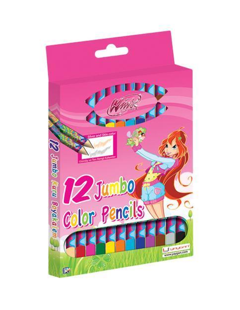 Цветные карандаши Winx Club, 12 цветов65391 От производителяЦветные карандаши Winx Club большого размера непременно понравятся вашему юному художнику. Набор включает в себя 12 ярких насыщенных цветных карандашей, которые идеально подходят для малышей. Карандаши изготовлены из натурального дерева, имеют мягкий грифель и трехгранный корпус. Корпус карандашей оформлен изображением фей из любимого мультфильма. Порадуйте своего ребенка таким восхитительным подарком!Цветные карандаши Winx Club большого размера непременно понравятся вашему юному художнику. Набор включает в себя 12 ярких насыщенных цветных карандашей, которые идеально подходят для малышей. Карандаши изготовлены из натурального дерева, имеют мягкий грифель и трехгранный корпус. Корпус карандашей оформлен изображением фей из любимого мультфильма. Порадуйте своего ребенка таким восхитительным подарком!Характеристики: Длина карандаша:18 см. Диаметр карандаша:1,1 см. Диаметр грифеля:0,4 см. Размер упаковки:12 см х 18 см х 1,2 см.
