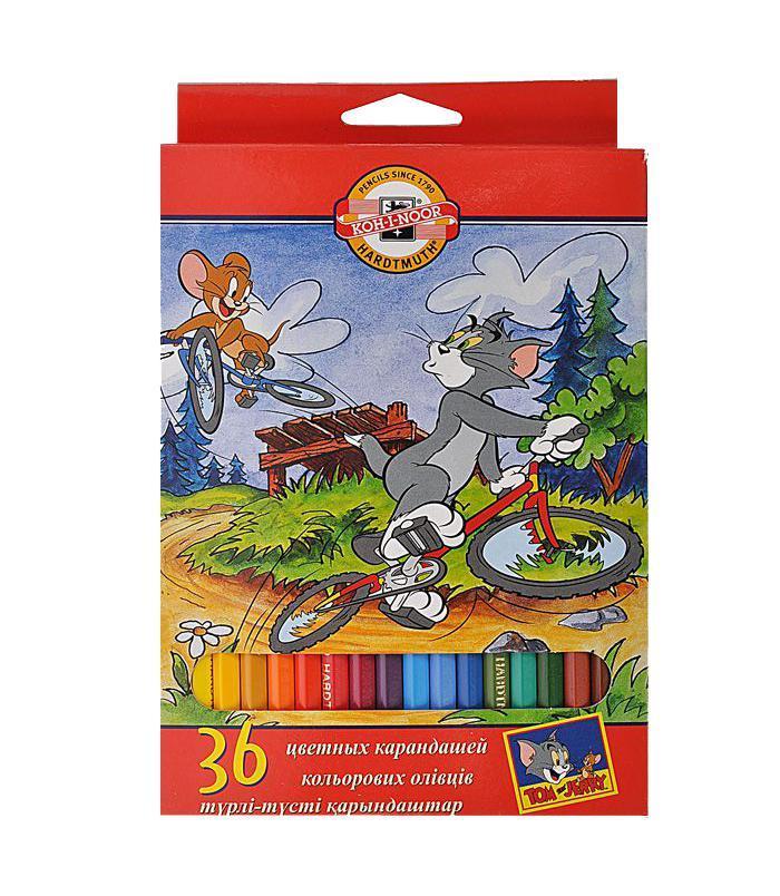 Карандаши цветные Tom And Jerry, 36 цветов09-3608От производителяЦветные карандаши Tom And Jerry откроют юным художникам новые горизонты для творчества, а также помогут отлично развить мелкую моторику рук, цветовое восприятие, фантазию и воображение. Традиционный шестигранный корпус изготовлен из натуральной древесины, гладкость которого обеспечена многослойной покраской. Корпус карандашей окрашен под цвет грифеля. Комплект включает 36 карандашей ярких насыщенных цветов. Карандаши уже заточены, поэтому все, что нужно для рисования - это взять чистый лист бумаги, и можно начинать! Цветные карандаши Pastelky откроют юным художникам новые горизонты для творчества, а также помогут отлично развить мелкую моторику рук, цветовое восприятие, фантазию и воображение. Традиционный шестигранный корпус изготовлен из натуральной древесины, гладкость которого обеспечена многослойной покраской. Цветные карандаши Pastelky откроют юным художникам новые горизонты для творчества, а также помогут отлично развить мелкую моторику рук, цветовое восприятие, фантазию и воображение. Традиционный шестигранный корпус изготовлен из натуральной древесины, гладкость которого обеспечена многослойной покраской. Корпус карандашей окрашен под цвет грифеля. Комплект включает 12 карандашей ярких насыщенных цветов. Карандаши уже заточены, поэтому все, что нужно для рисования - это взять чистый лист бумаги, и можно начинать! Характеристики:Материал:дерево, грифель. Диаметр карандаша:0,7 см. Длина карандаша:17,5 см. Размер упаковки:13 см х 20 см х 1,5 см.