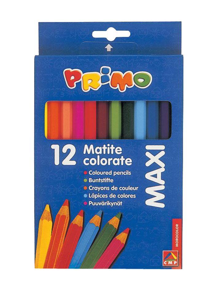 Цветные карандаши деревянные MAXI 12 цветов51000013 Карандаши легко ложатся на различные типы бумаги и другие поверхности. Подходят для достижения всего широкого списка визуальных эффектов получаемых с помощью карандашей. Штрихи могут накладываться один на другой или пересекаться для достижения мягкого эффекта светотени. Прозрачные и блестящие оттенки могут быть получены с помощью размывания штрихов влажной кисточкой или бумагой. Карандаши уже заточены, поэтому все, что нужно для рисования - это взять чистый лист бумаги, и можно начинать!Набор цветных карандашей Primo Maxi состоит из 12 разноцветных карандашей с утолщенным шестигранным корпусом, идеально подходящих для малышей. Карандаши имеют прочный грифель, а использование качественной древесины делает карандаши легко затачиваемыми. Пигменты, входящие в состав грифеля, обеспечивают ровное письмо и сочные натуральные цвета.Карандаши легко ложатся на различные типы бумаги и другие поверхности. Подходят для достижения всего широкого списка визуальных эффектов получаемых с помощью карандашей. Штрихи могут накладываться один на другой или пересекаться для достижения мягкого эффекта светотени. Прозрачные и блестящие оттенки могут быть получены с помощью размывания штрихов влажной кисточкой или бумагой. Карандаши уже заточены, поэтому все, что нужно для рисования - это взять чистый лист бумаги, и можно начинать!Компания Morocolor - авторитетный европейский производитель товаров для школы и детского творчества. Продукция Morocolor представлена в более чем 40 странах мира. В 2009 году Morocolor вышла на российский рынок со своим ведущим брендом - Primo, который уже завоевал огромную популярность у потребителей Европы, США, Японии и других региональных рынков. Краски, карандаши, фломастеры, мелки и пластилин марки Primo созданы с огромной любовью и безусловной профессиональной ответственностью; это лучшее, что может оказаться в руках ребенка. Характеристики: Длина карандаша: 17,5 см. Диаметр карандаша: 1 см. Размер упаковк