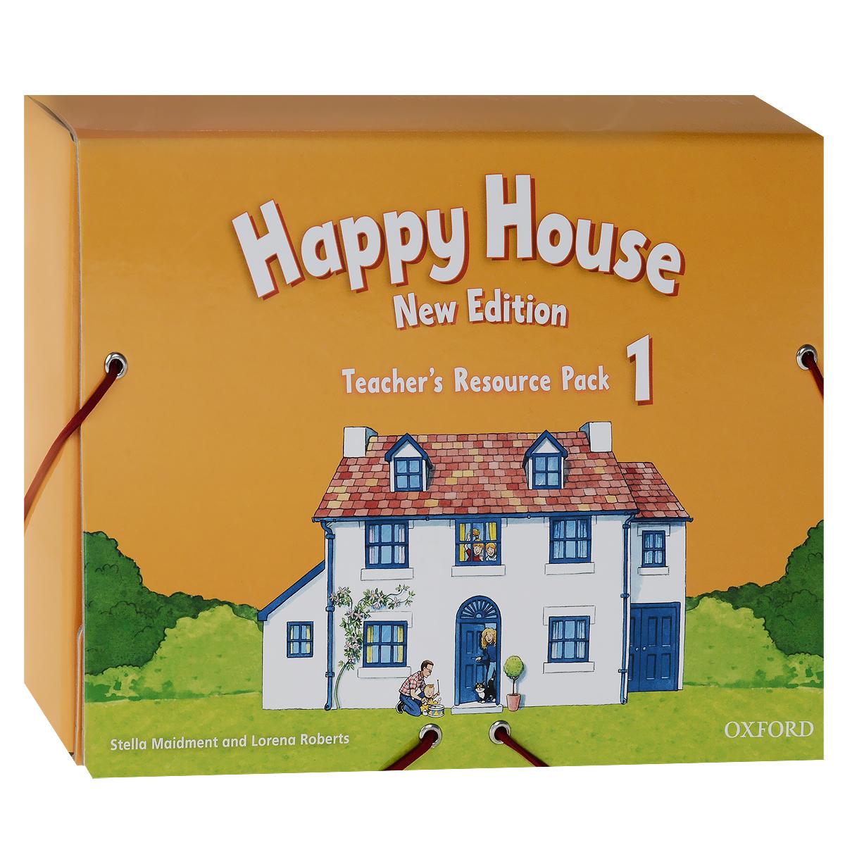 Happy House 1: Teachers Resource Pack (комплект из 2 книг + 73 карточки, 3 мягких игрушки)