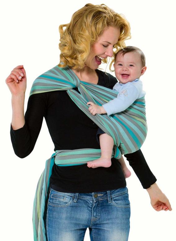 Слинг-шарф Amazonas Carry Sling: Pacific, цвет: серый, бирюзовый