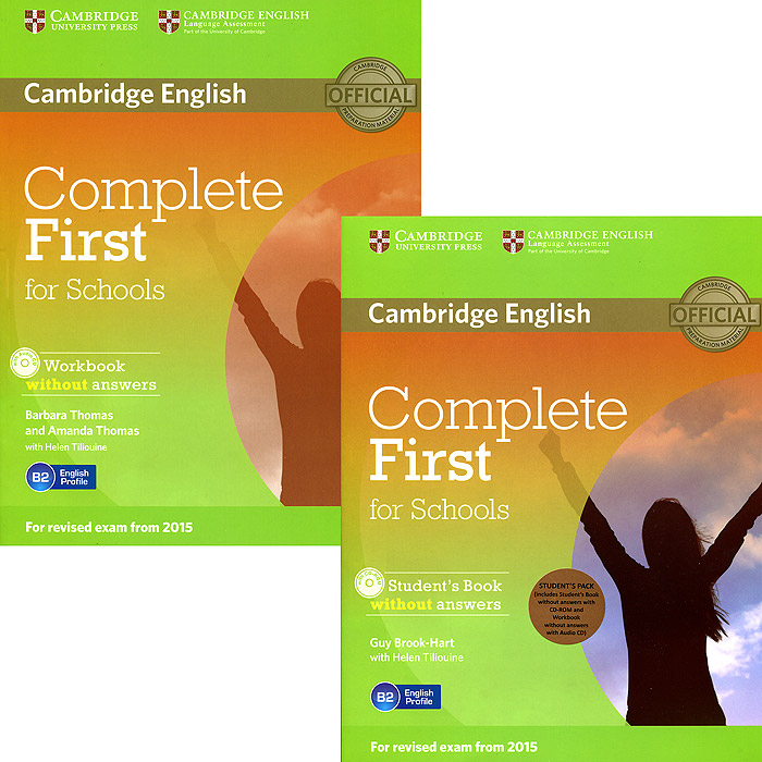 Complete First for Schools Student's Pack (комплект из 2 книг + 2 CD-ROM) oxford grammar for schools 2 dvd rom