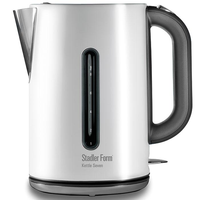 Stadler Form Kettle Seven SFK.807, White электрочайникSFK.807Электрический чайник Stadler Form Kettle Seven SFK.807 имеет все шансы стать героем Вашей кухни. Под егонеприхотливым металлическим корпусом скрывается пылкая романтическая натура – Kettle Seven не даст Вамзамерзнуть. Испытайте его на прочность во время семейного торжества – объем не подведет. Этот чайник ужевлюблен в Вас. Ответьте ему взаимностью, и он будет податливо вращаться на 360°, открываться по нажатиюкнопки.Тип нагревательного элемента: закрытый Отсек для шнура