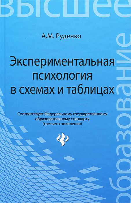 Экспериментальная психология в схемах и таблицах. Учебное пособие