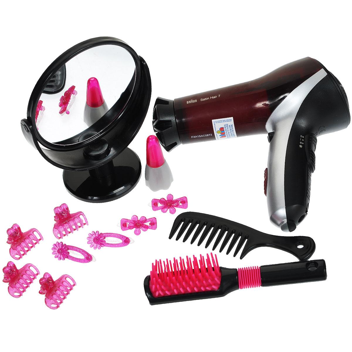 Игровой набор Klein Braun Braun Satin Hair 7. Стилист, 14 предметов