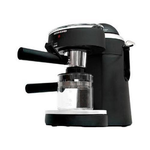 Redmond RCM-1502RCM-1502КофеваркаRedmond RCM-1502выполнена в черном цветовом решении. Кофеварка проста и удобна в использовании. Без особых усилий Вы сможете сварить себе эспрессо или побаловать своих родных и близких свежесваренным капучино. Колба из термостойкого стекла Съемный лоток для сбора капельОтсек для молотого кофе Сопло для подачи пара под давлением Съемный держатель фильтра Световой индикатор работы Подогреваемая подставка для чашек Ручной режим приготовления капучино Полуавтоматический режим приготовления эспрессо Цвет: черный Емкость для воды: 0,24 л Максимальное давление: 4 Бар Потребляемая мощность: до 720 Вт Используемый кофе: молотый Материал корпуса: пластик Материал рожка: металл Длина шнура: 1 м