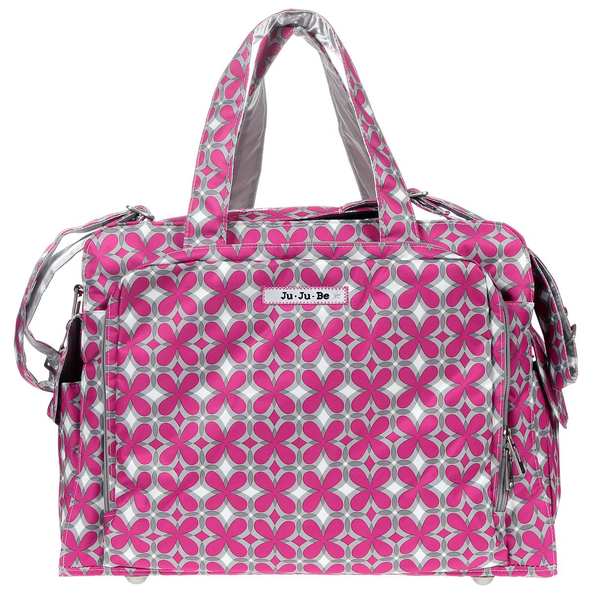 Дорожная сумка для мамы Ju-Ju-Be Be Prepared. Pink Pinwheels, цвет: розовый, серый, белый сумка для мамы ju ju be hobobe pink pinwheels 12hb01a 8737