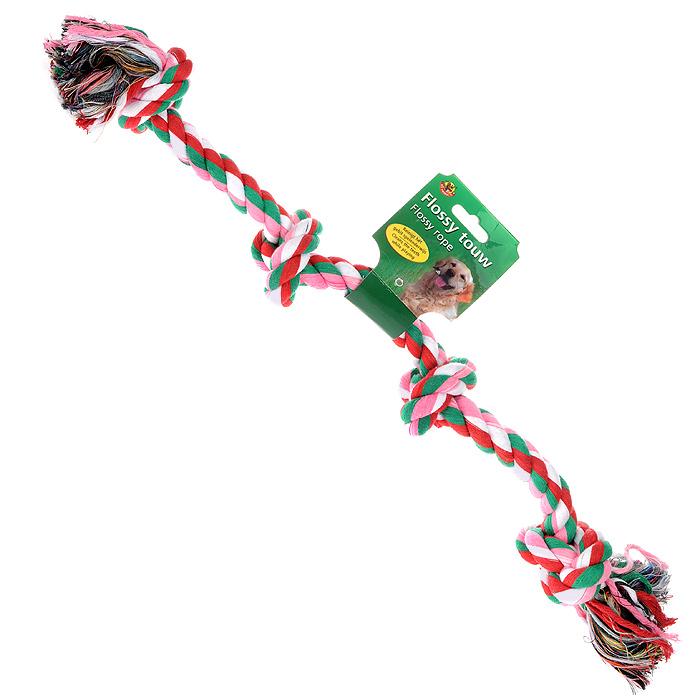 Игрушка для собак I.P.T.S. Канат с 4-мя узлами игрушка для собак titbit канат с рулетом из кожи длина 35 см