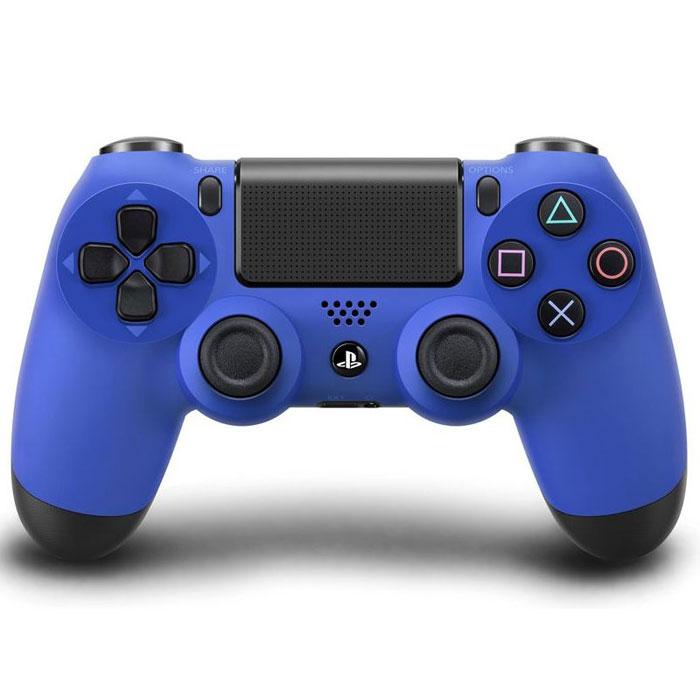 Беспроводной контроллер Dualshock 4 для PS4 (синий)942-000031Контроллер нового поколения Dualshock 4 представляет собой большой шаг вперед в развитии игровых устройств управления.Форма, покрытие и чувствительность его парных аналоговых джойстиков создают ощущение полного контроля над процессом игры. Новая сенсорная панель с поддержкой нескольких одновременных касаний и функцией щелчка, открывающая доступ к новым способам игры.Световая панель оснащена тремя цветными индикаторами, облегчающими идентификацию игрока при совместной игре с использованием камеры PlayStation Camera. Встроенный динамик и стереофонический разъем открывают для пользователей новые возможности в области игрового звука.Кнопки Start и Select заменены кнопками Share и Options. Для управления в играх служат кнопки направлений, кнопки действий и боковые кнопки. Также добавлена сенсорная панель, аналогичная задней панели системы PS Vita, но поддерживающая функцию щелчка, полезную при навигации в меню. На обратной стороне контроллера находится световая панель, позволяющая системе отслеживать Ваши перемещения при использовании камеры PS Camera. Световая панель может окрашиваться в 4 цвета, соответствующих игрокам 1-4. Контроллер также оснащен монофоническим динамиком и разъемом для подключения гарнитуры.Световая панельВстроенный монофонический динамикБеспроводные интерфейсы: Bluetooth 2.1 + EDRСенсорная панель: Двухточечная, емкостного типа, с функцией щелчкаДатчик перемещения: шестиосевая система (трехосевой гироскоп, трехосевой акселерометр)Батарея: встроенная литий-ионная аккумуляторная батарея, напряжение: 3,7 В, емкость: 1000 мАчРазъемы: USB (micro b), разъем расширения, разъем стереогарнитурыКнопки / переключатели: кнопка PS, кнопка Share, кнопка Options, кнопки направлений (вверх / вниз / влево / вправо), кнопки действий (треугольник, круг, крест, квадрат), R1/L1/R2/L2/R3/L3, правый джойстик, левый джойстик, кнопка сенсорной панели