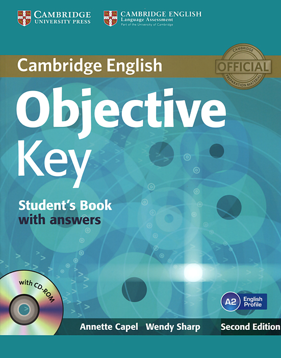 Objective Key: Student's Book with Answers (+ CD-ROM) objective first 4 edition workbook without answers сd