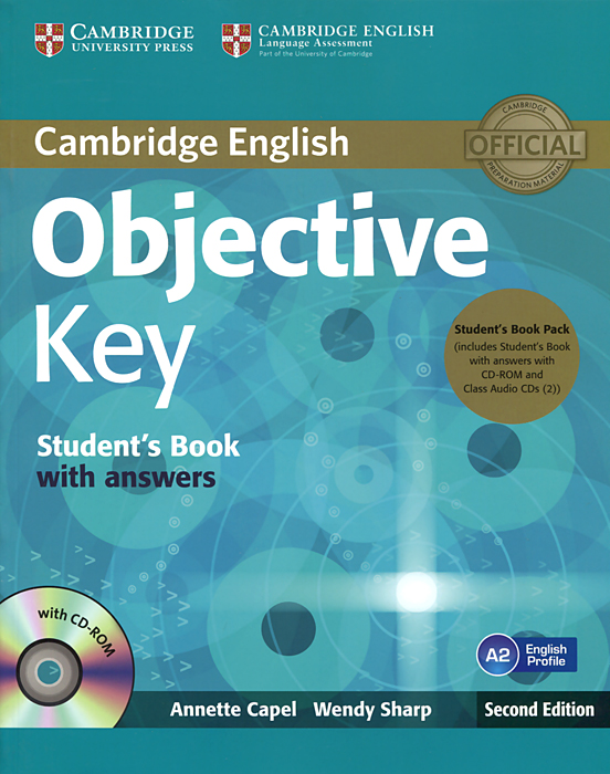 Objective Key: Student's Book with Answers (+ 2 CD-ROM) objective first 4 edition workbook with answers cd rom