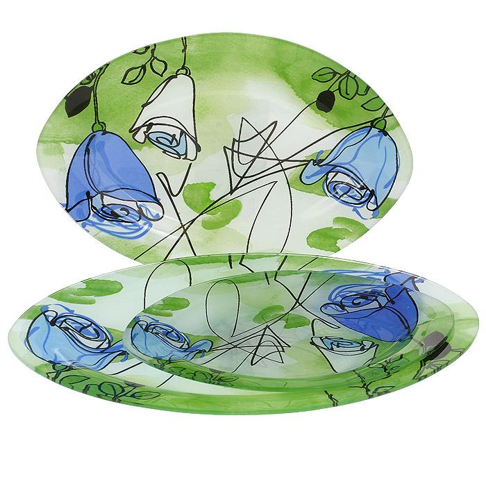 Набор блюд Lillo, 3 шт. S 4501A-3-C102S 4501A-3-C102Набор Lillo состоит из трех блюд овальной формы, выполненных из стекла. Блюда украшены ярким цветочным рисунком. Прекрасно подойдут для подачи салатов, закусок и другого. Изящные блюда прекрасно оформят стол и порадуют ваших гостей изысканным дизайном и формой.
