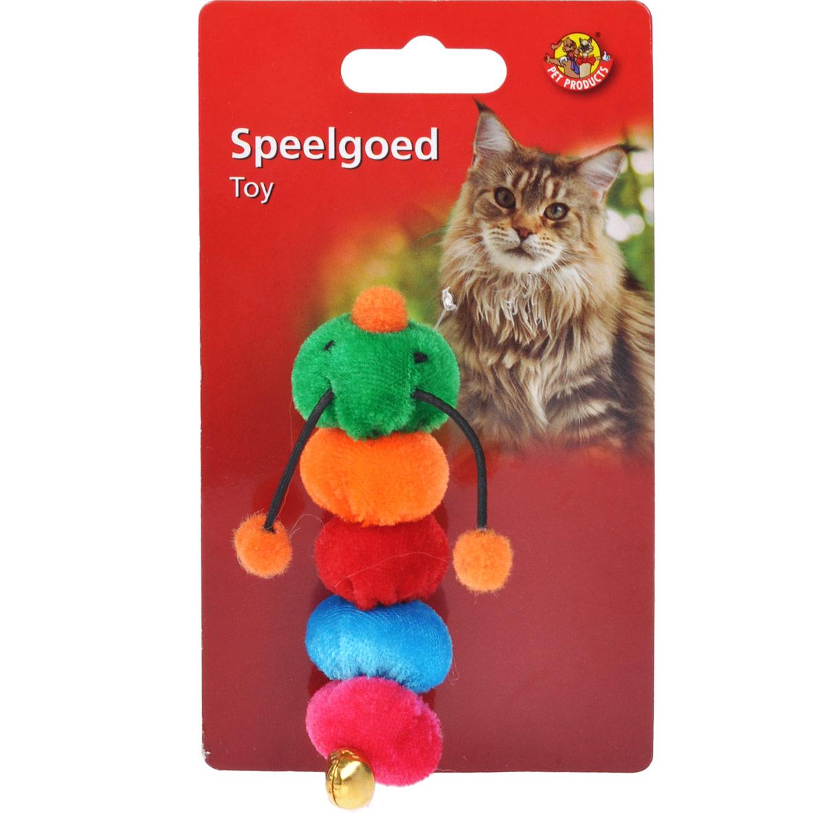 Игрушка для кошек I.P.T.S. Гусеница37608/440502Забавная игрушка для кошек I.P.T.S. Гусеница состоит из цветных сегментов. Игрушка изготовлена из мягкого плюша. Предназначена для активных игр с кошкой. Такая игрушка привлечет внимание вашего любимца и не оставит его равнодушным.Длина: 9,5 см.